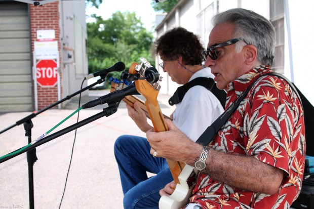 Despite the heat, Paul and Jerry provided a great afternoon of music.