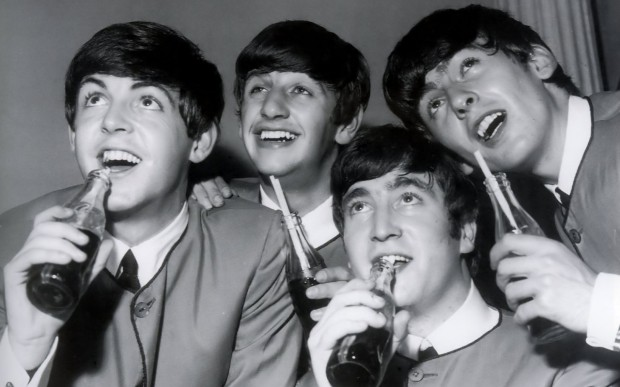 beatles drinking soda